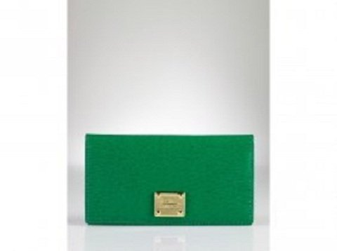 Lauren By Ralph Lauren Newbury Green Leather Slim