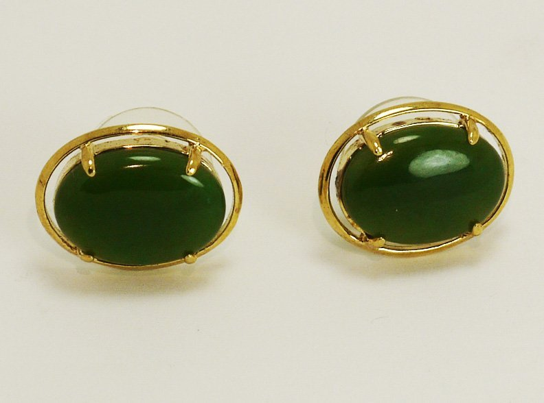 Spinach Jade Earings From Canada