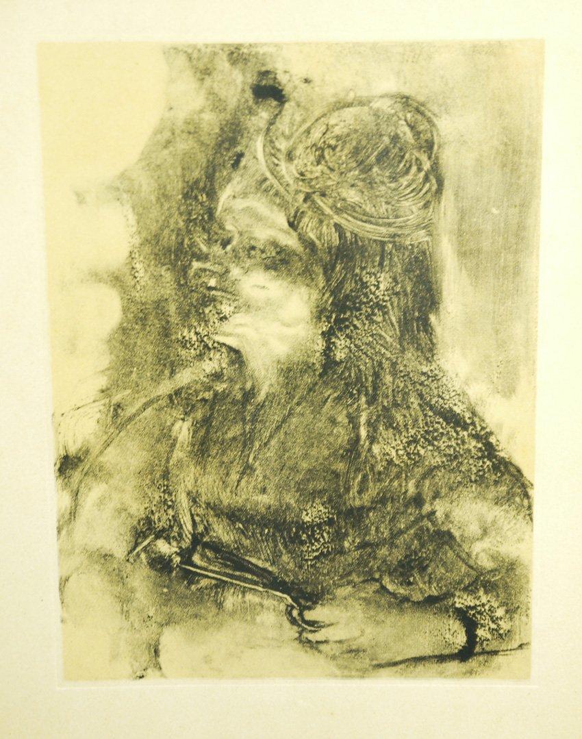 Edgar Degas Femme aux ciseaux Lithograp and Pochoiron V