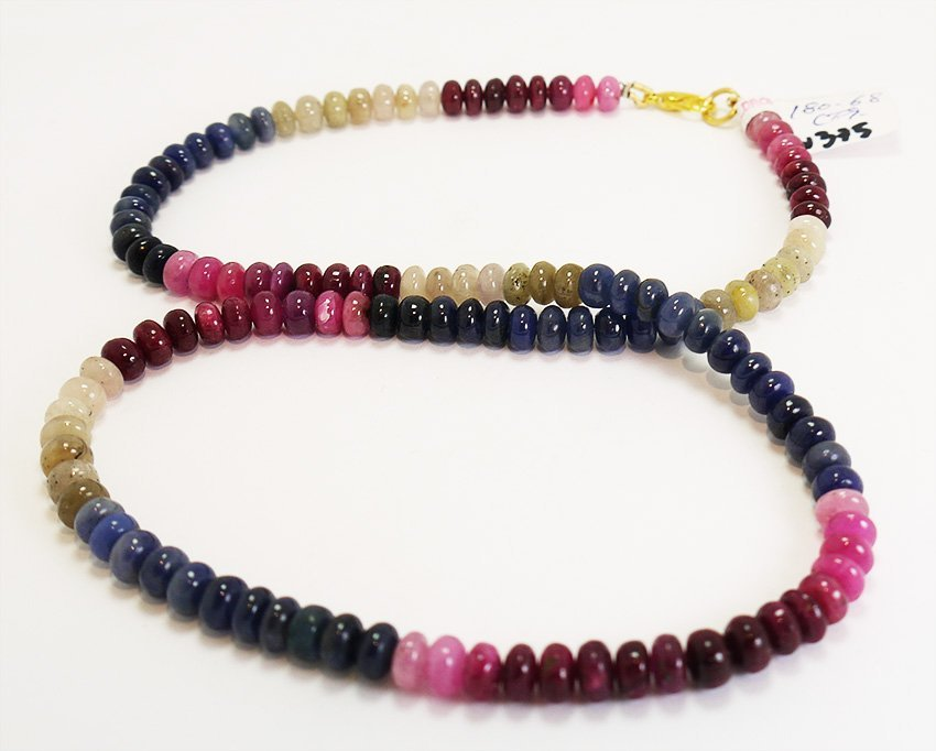 180.68 Colored Sapphire Necklace