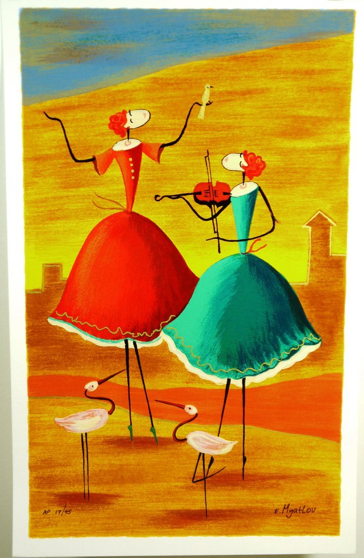 """Esther Myatlov """" A Day To Remember"""" Serigraph"""