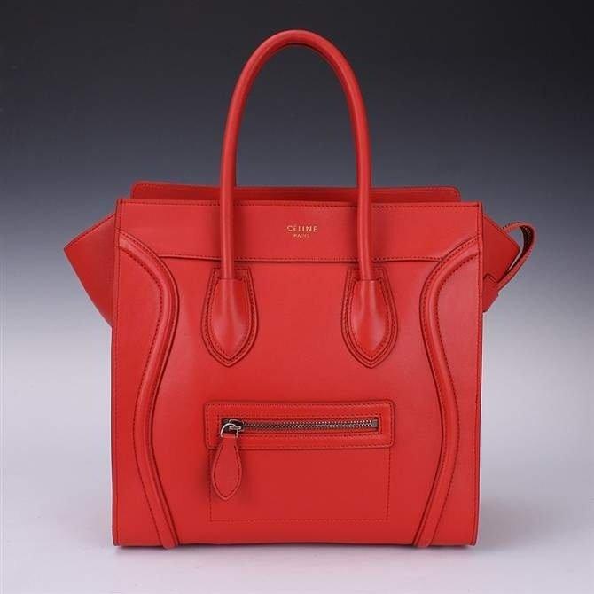 Original Celine Red/Orange Mini Hand Bag