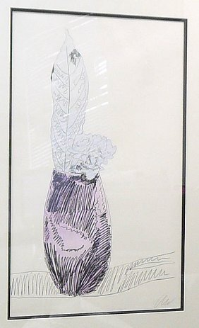 "Original Andy Warhol ""Flowers"" Silk Screen print"