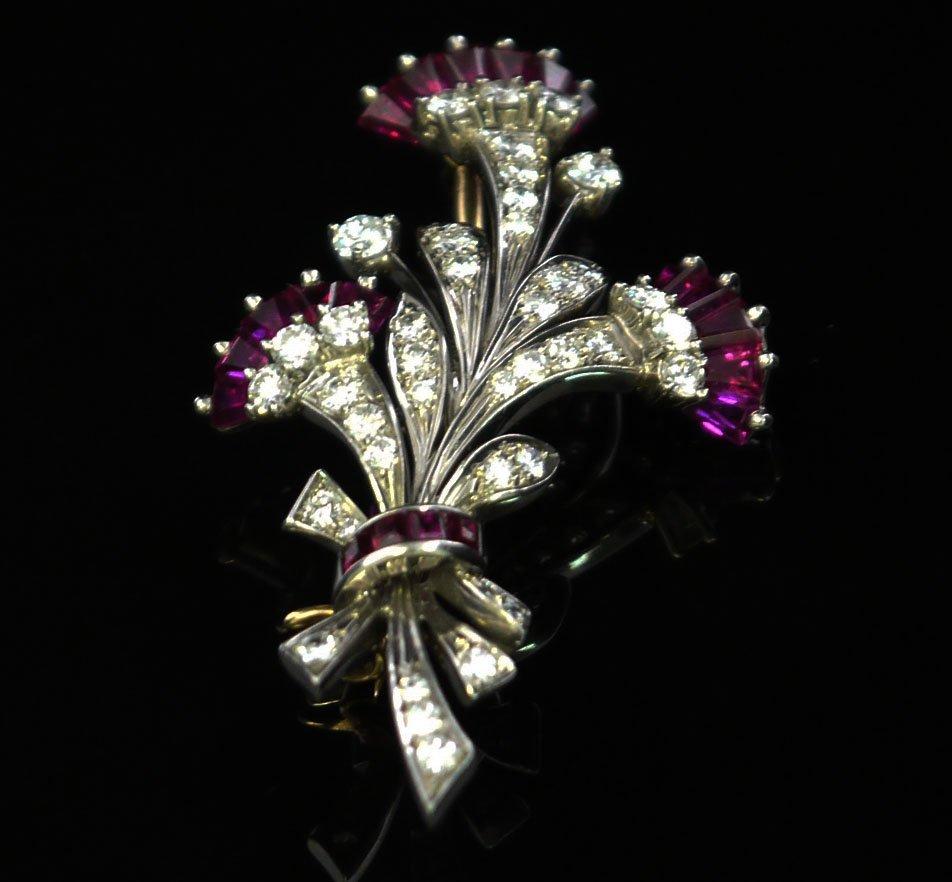 .0950 Palladium Tiffany & Co Antique Pin