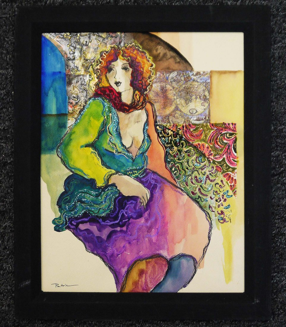 """Orig. PATRICIA """"Untitled"""" one of a kind media on board"""
