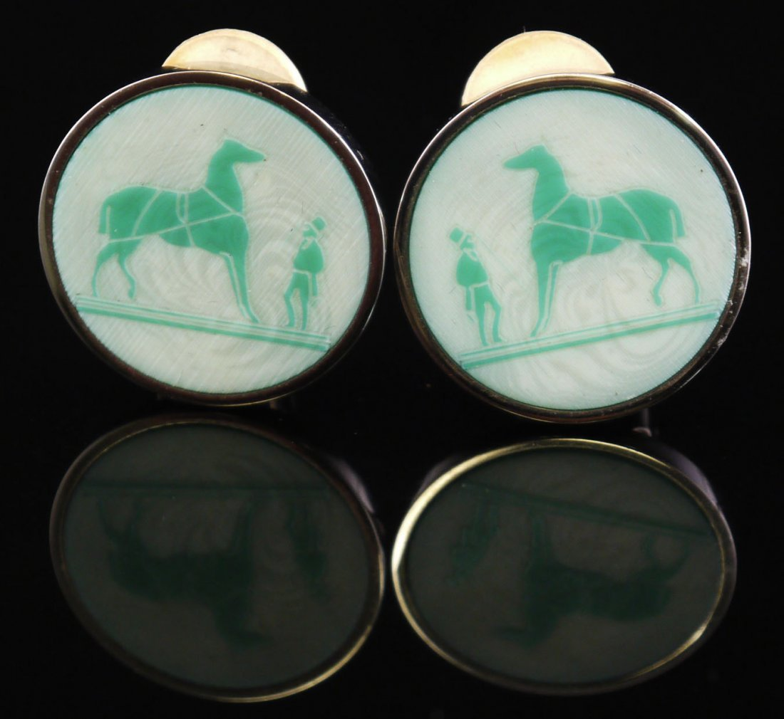 Hermes Earrings Acid etched