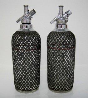 2C Vintage American Sparklets Co. Glass Spritzers