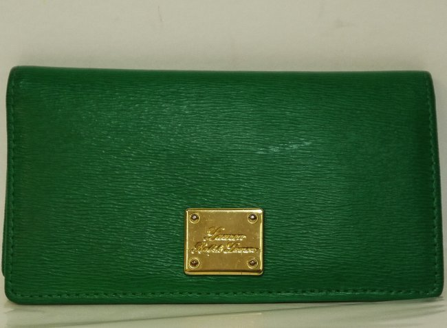 Ralph Lauren Newbury Green Leather Slim