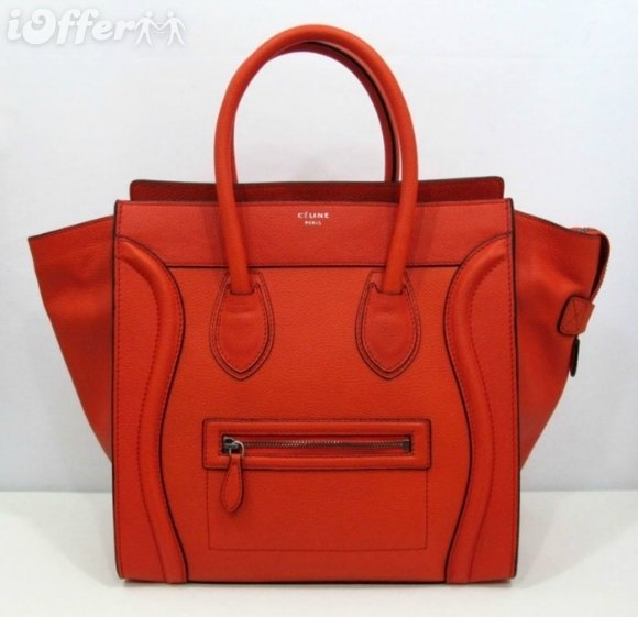 Original Celine Red/Orange Mini Hand Bag