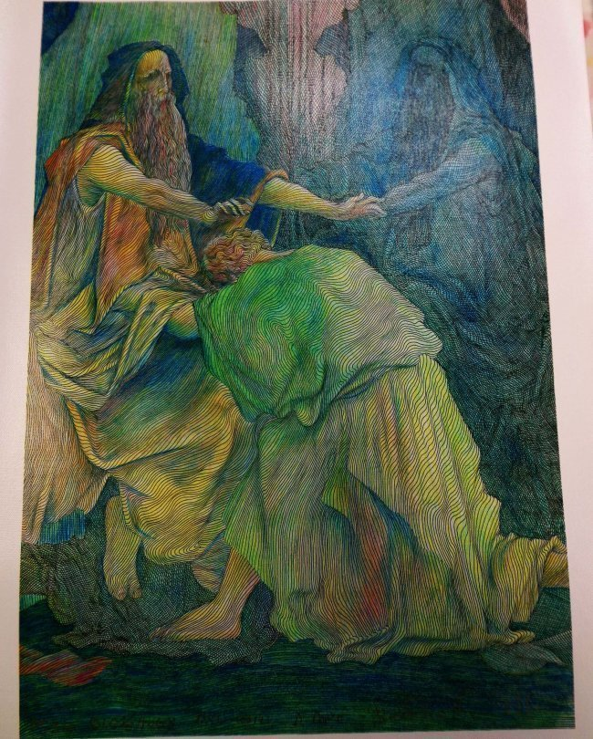 """95A: Guillaume Azoulay """"Blessings"""" Giclee"""