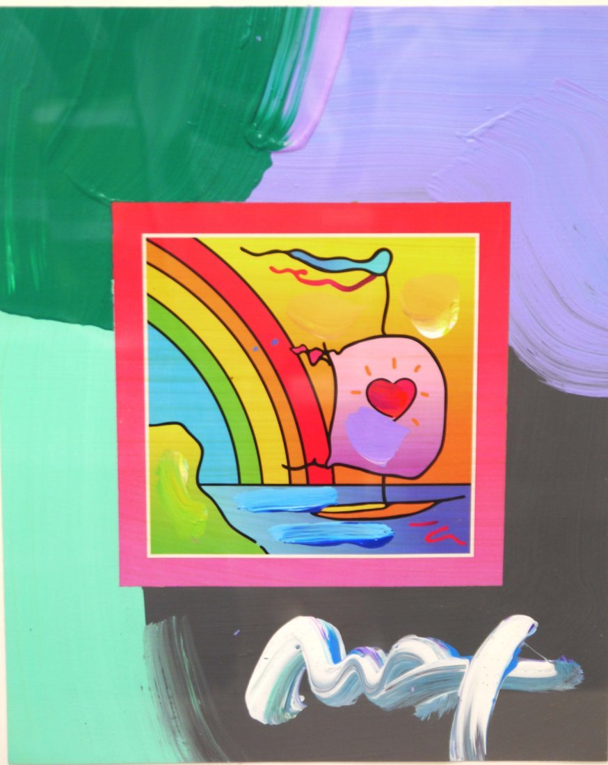 """Peter Max's """"Sailboat with Heart on Blends 2007"""" (Frame"""