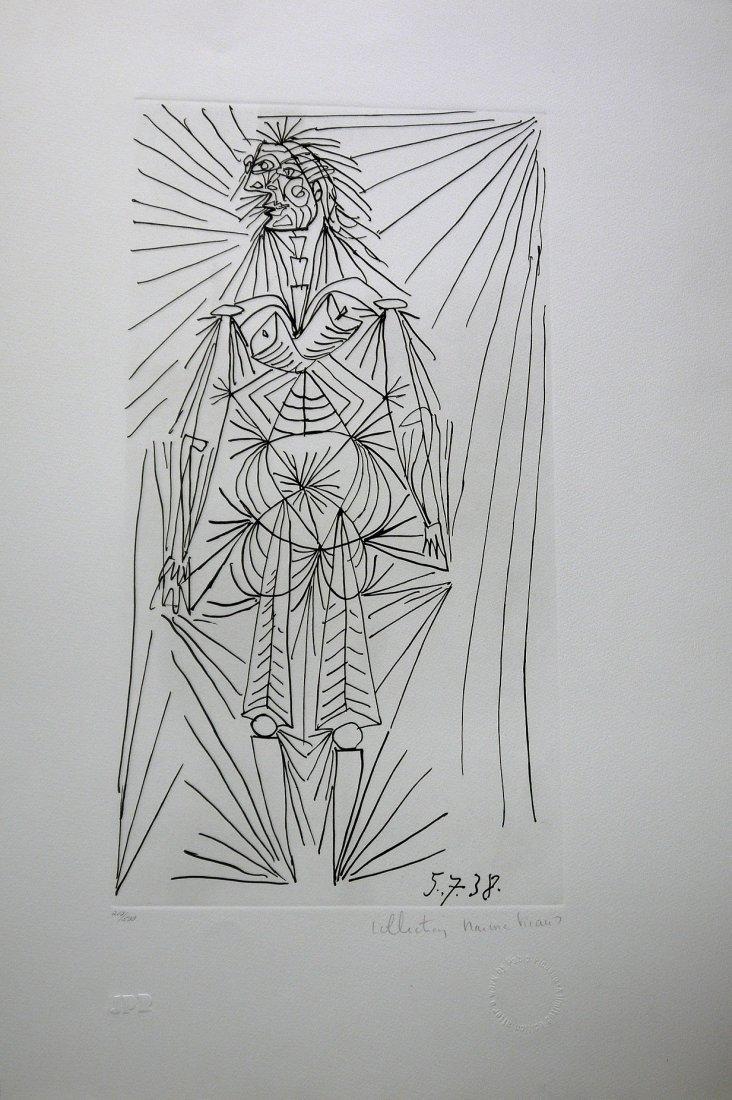 """Pablo Picasso """"Femme debout"""" Lithograph 21.5"""" X 29.5"""""""