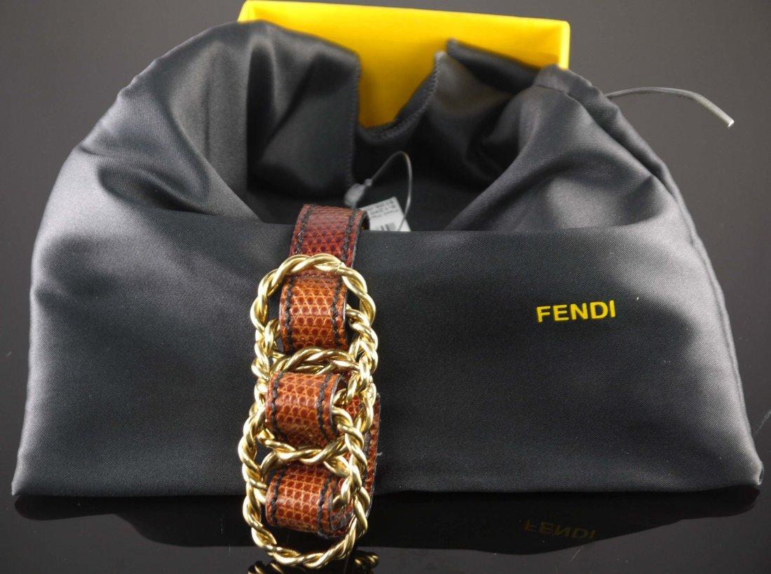FENDI Leather Bracelet (boxed)