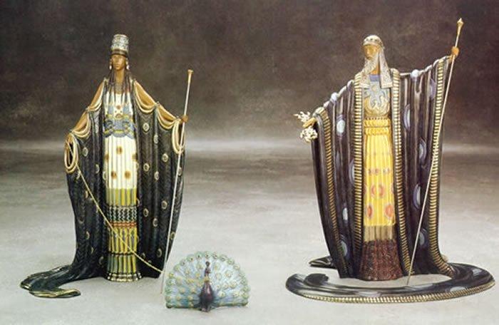 """Erte """"Hera and Zeus"""" Bronze Sculpture"""