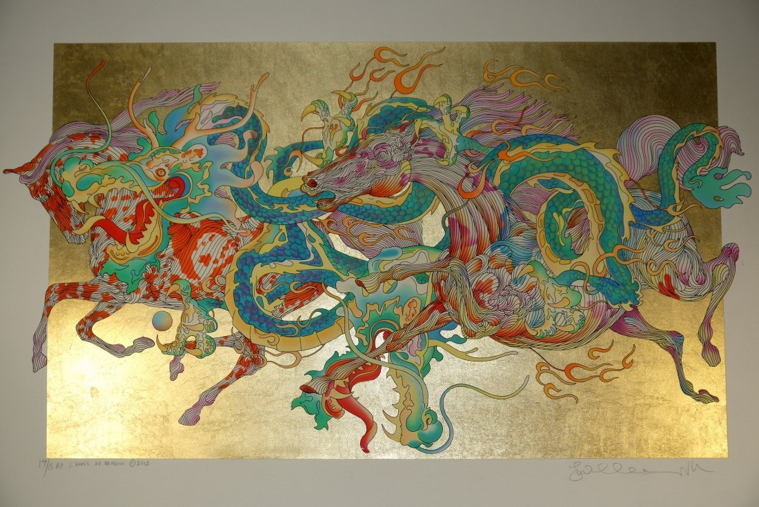 "Guillaume Azoulay "" L'annee Du Dragon"" (Unframed)"