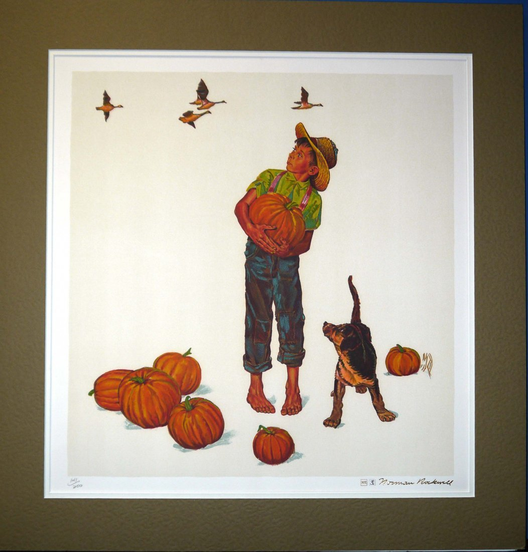 "Norman Rockwell ""Autum Harvest"" (Unframed)"