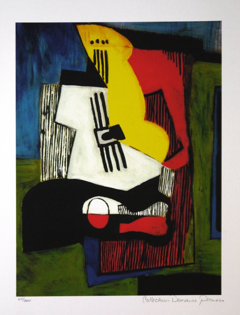 """Pablo Picasso """"Still Life with Guitar"""" Giclee"""