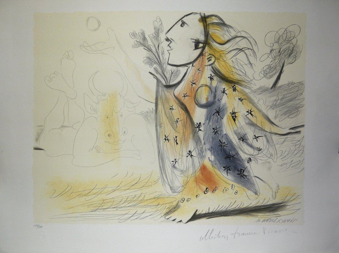 """Pablo Picasso """"Minotaure et femme"""" LE lithograph 1936"""