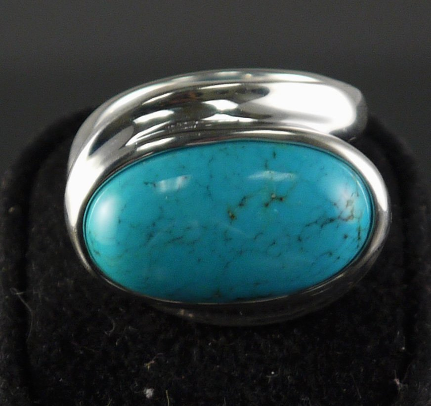 925 Silver 9.12ct Turquoise Ring