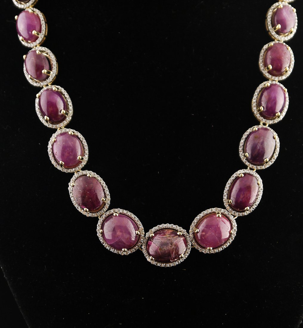 223.32ct Ruby & Sapphire Necklace