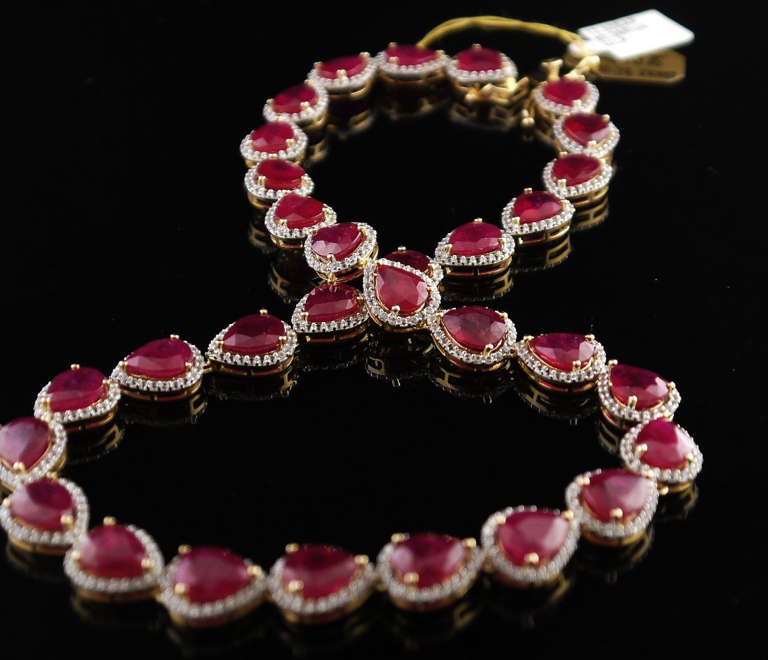 107.56ct Ruby & Colorless Sapphire Necklace