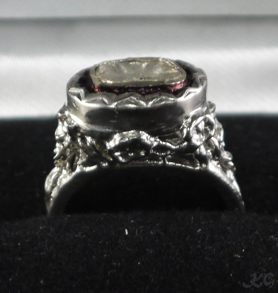 Silver & Gold 0.27ct Diamond Solitaire Ring