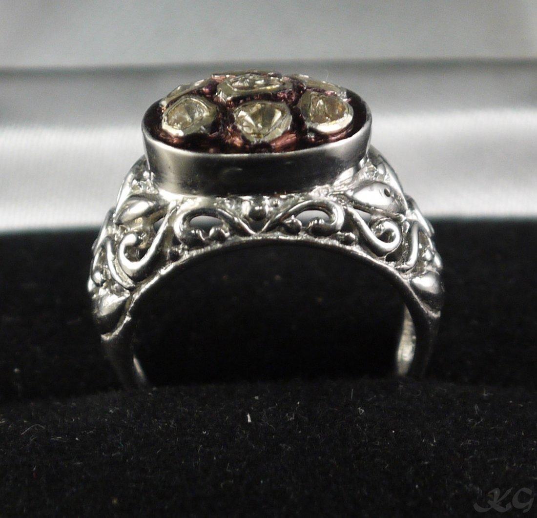 Silver & Gold 0.16ct Diamond Ring