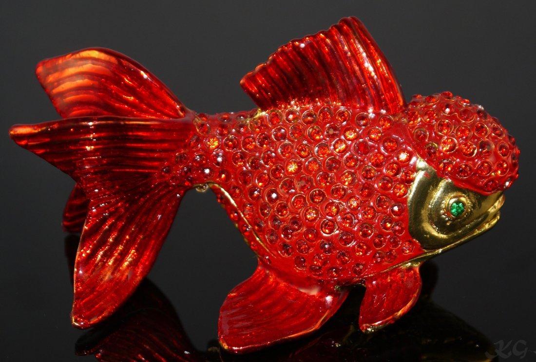 Qifu Gold Fish Style Jewelry Box