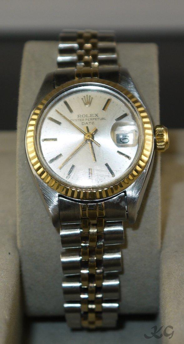 ROLEX 2-Tone Date Model Wristwatch