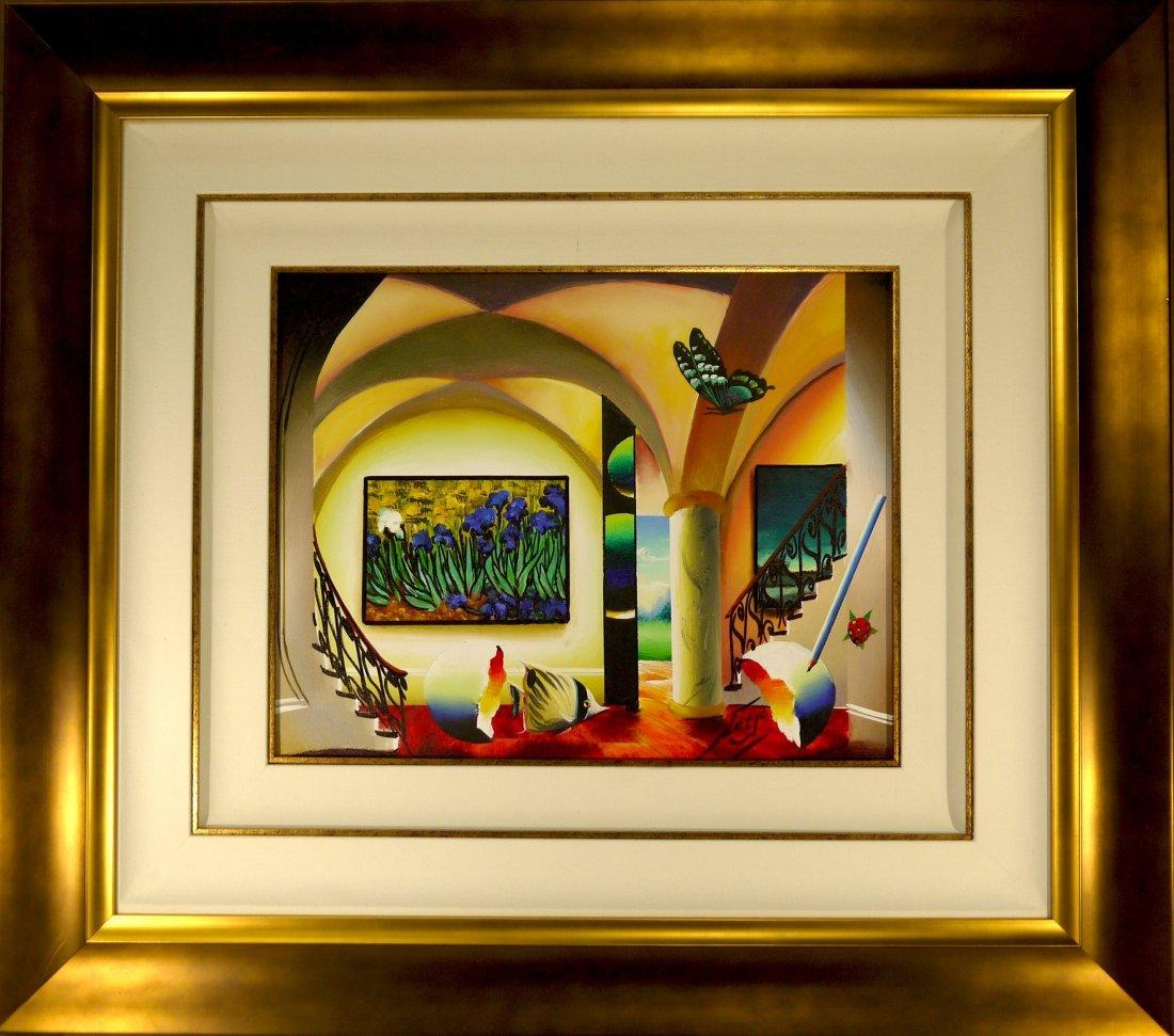 "Ferjo ""Lively Flowers"" Oil on Canvas (FRAMED)"