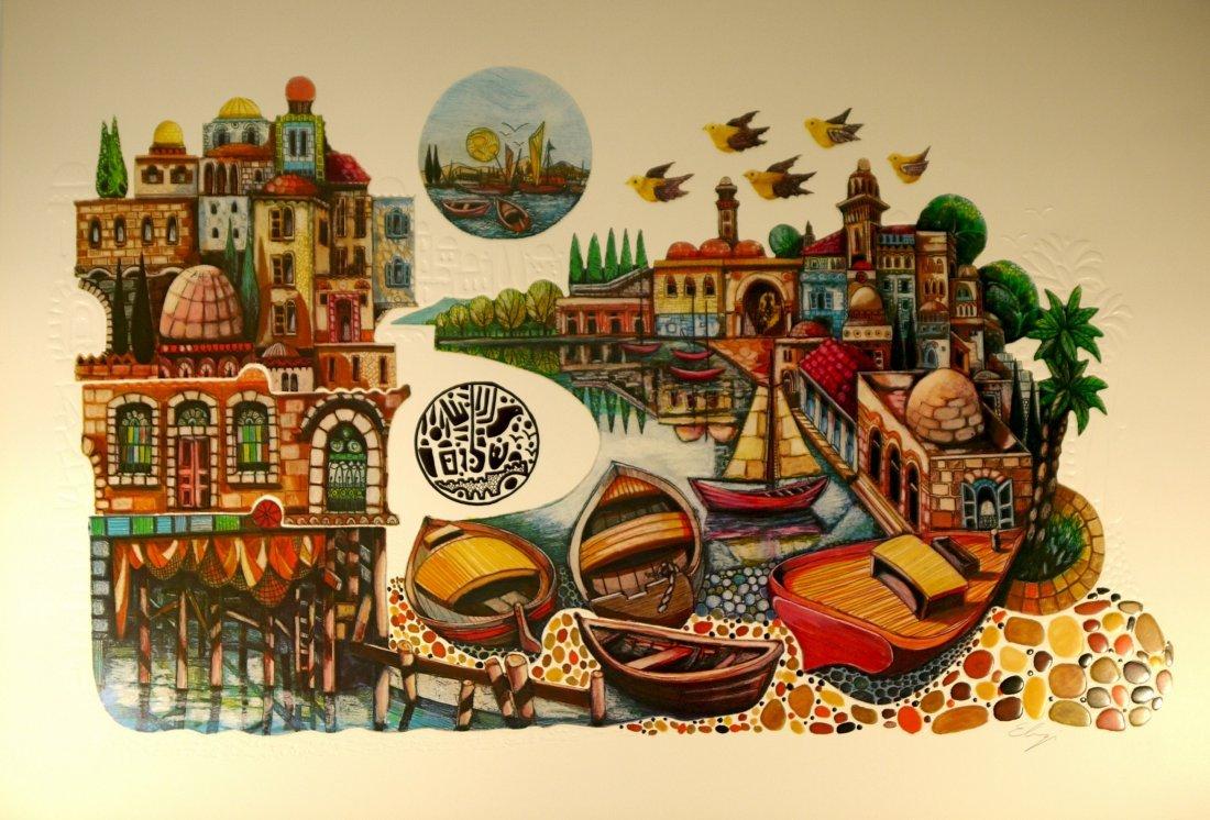 """Amram Ebgi """"Untitled"""" Lithograph"""