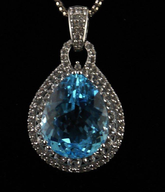 17.18ct Kunzite 2.66ct White Sapphire 925 Silver