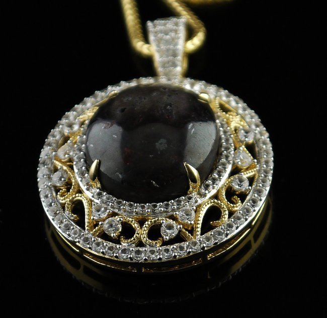 57.74ctw Ruby & Colorless Sapphire Necklace