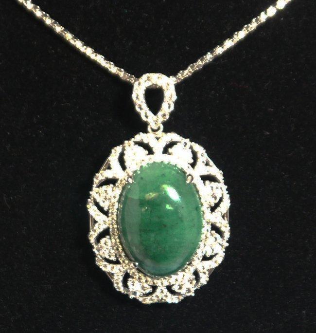 34.69ctw Emerald & Sapphire Necklace