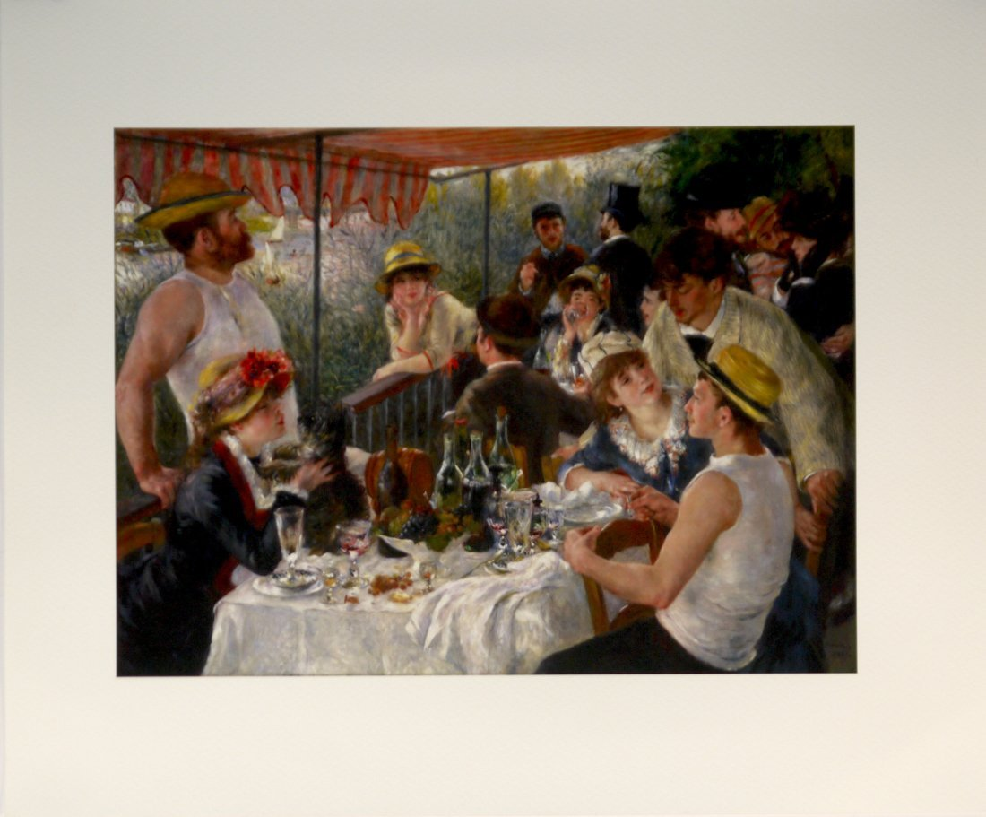 """Pierre Auguste Renoir """"Luncheon at the Boating Party"""""""