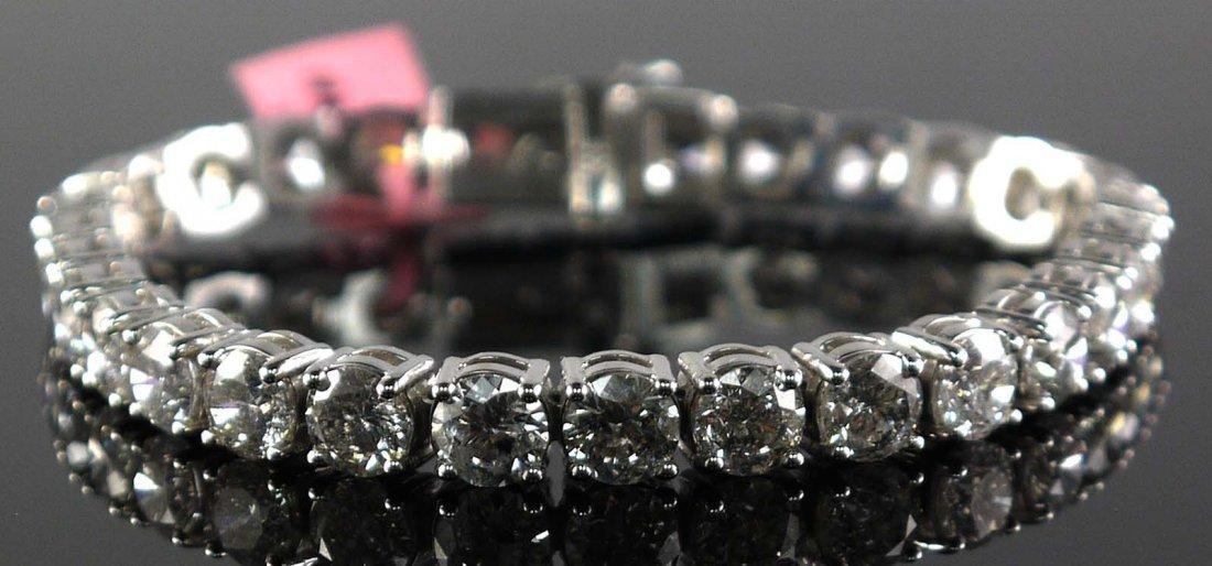 14kt White Gold 19.16cts Diamond Bracelet