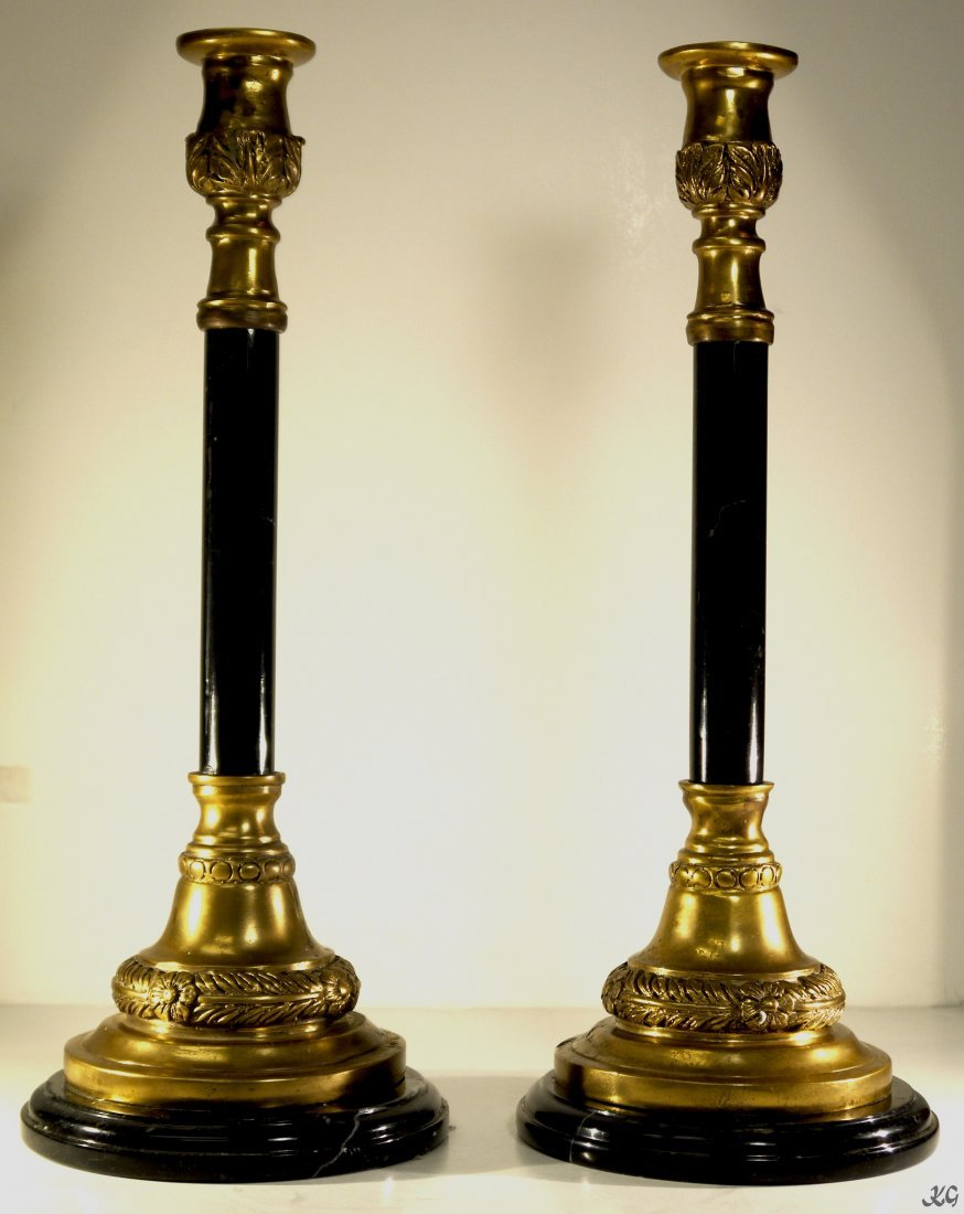 Bronze Candle Stand (Pair) W360