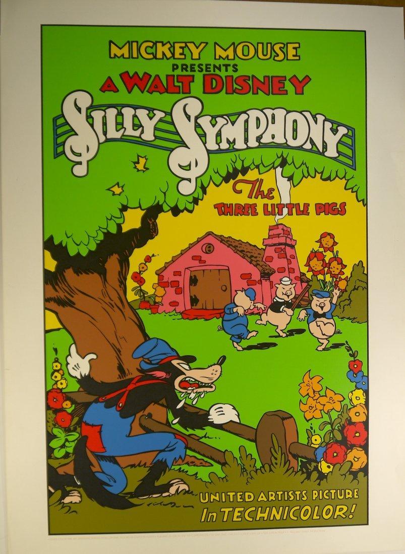 """Walt Disney """"Silly Symphony"""" (UNFRAMED) W78"""