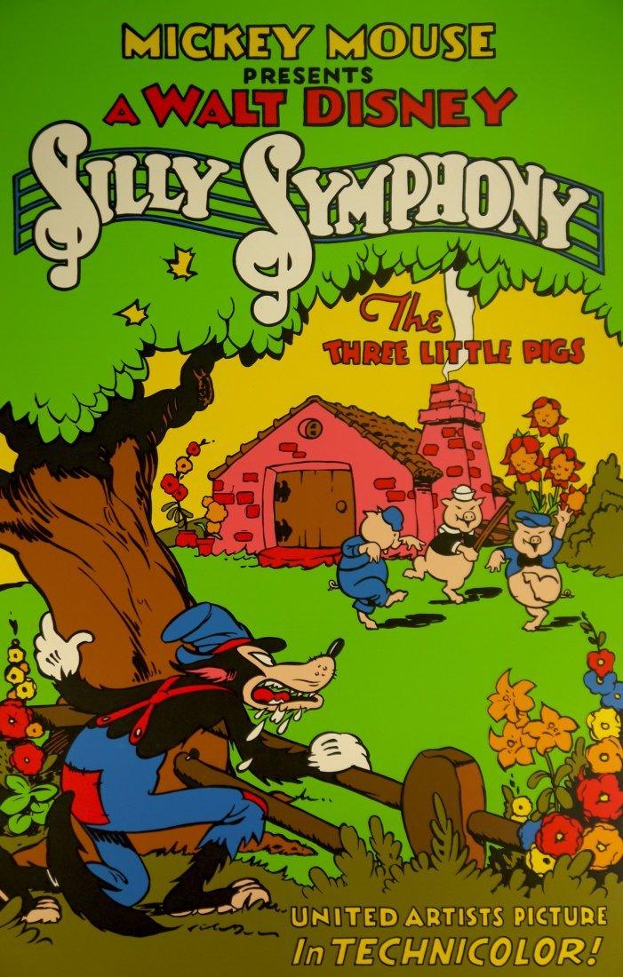 """Walt Disney """"Silly Symphony"""" (UNFRAMED) W78 - 2"""