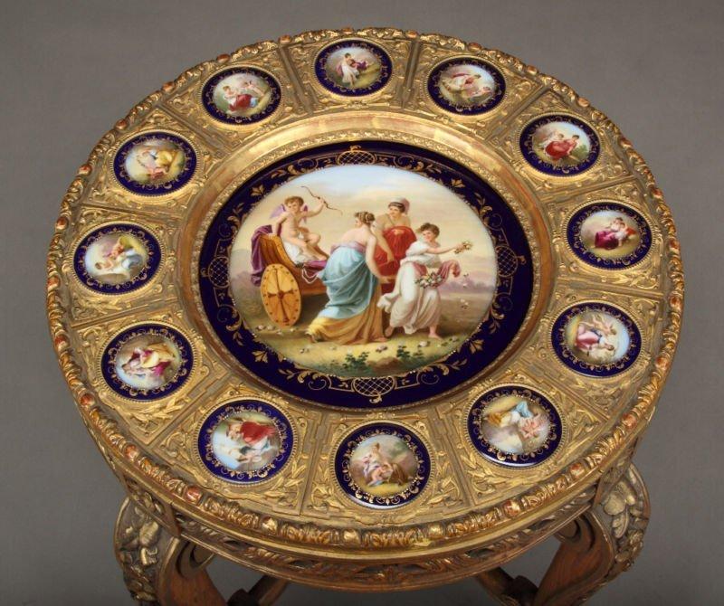 19th century Austrian Porcelain Royal Vienna Table