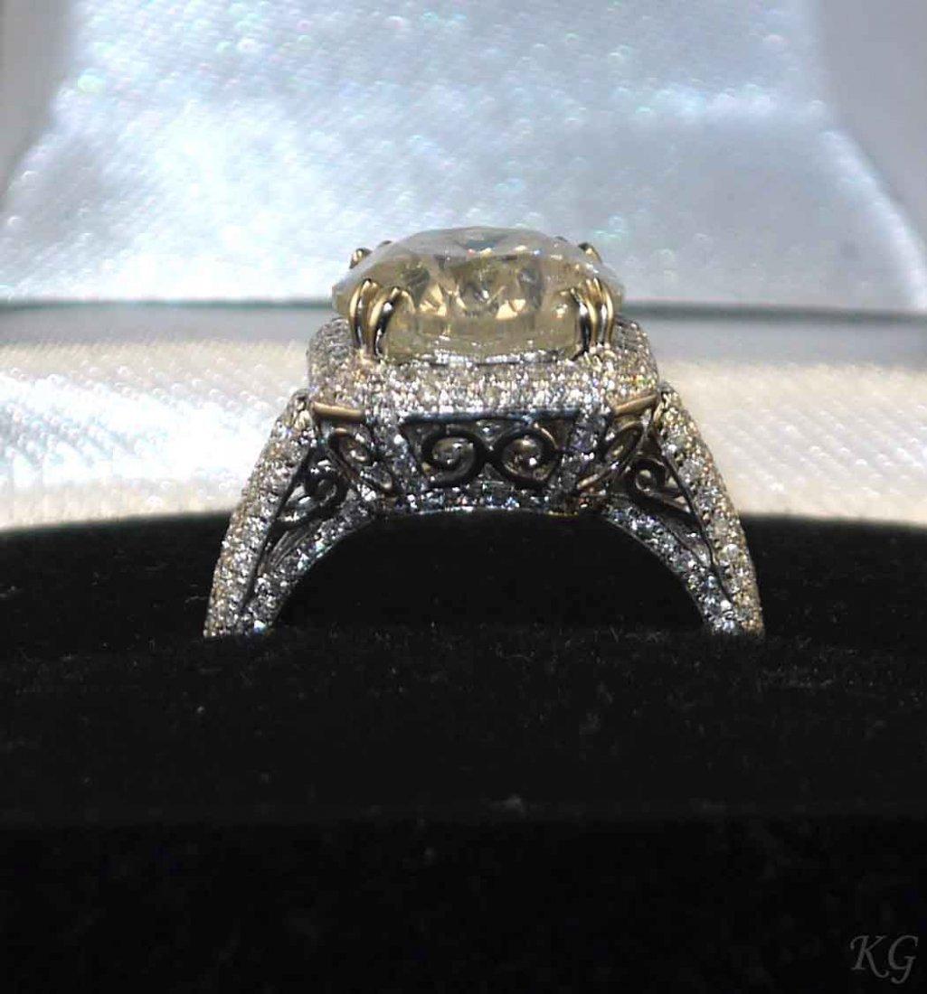 18kt White Gold 5.86ctw Diamond Ring K19J777