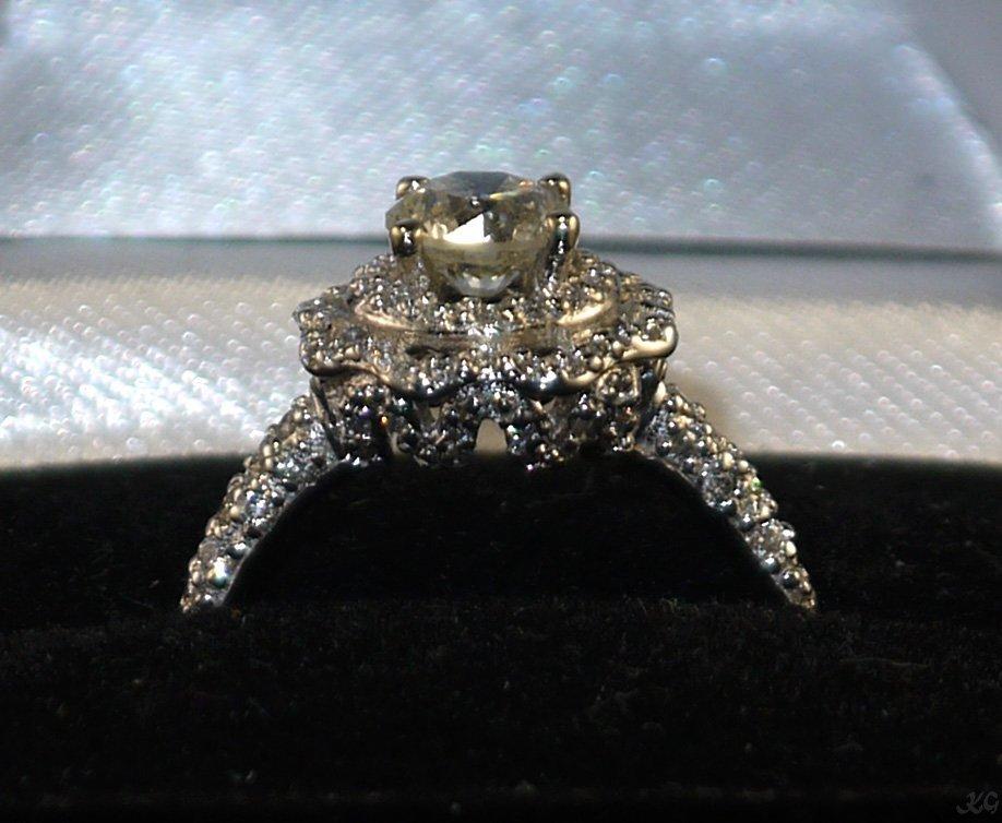 14kt White Gold 1.41ctw Diamond Ring K63J25