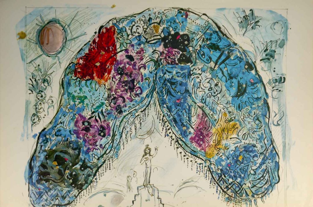 """Marc Chagall """"The Queen"""" Limited Edition Lithograph"""