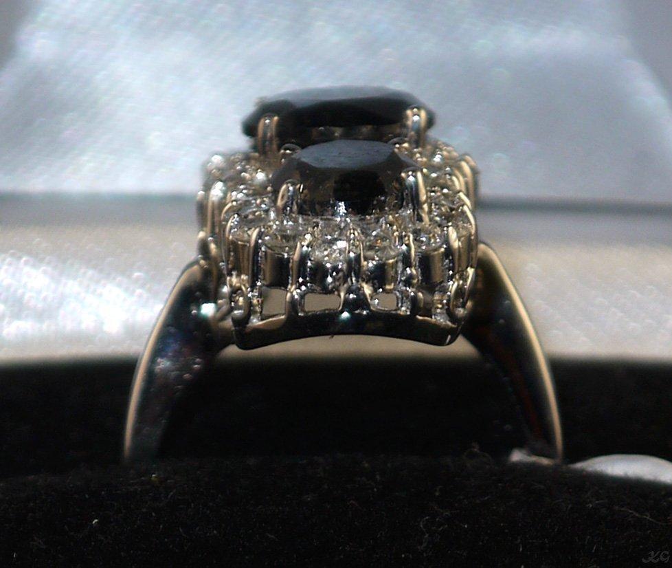 14kt White Gold 7.42ctw Black & White Diamond Ring