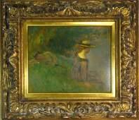Emile Delobre Summer Idyll Original 1919 W5403