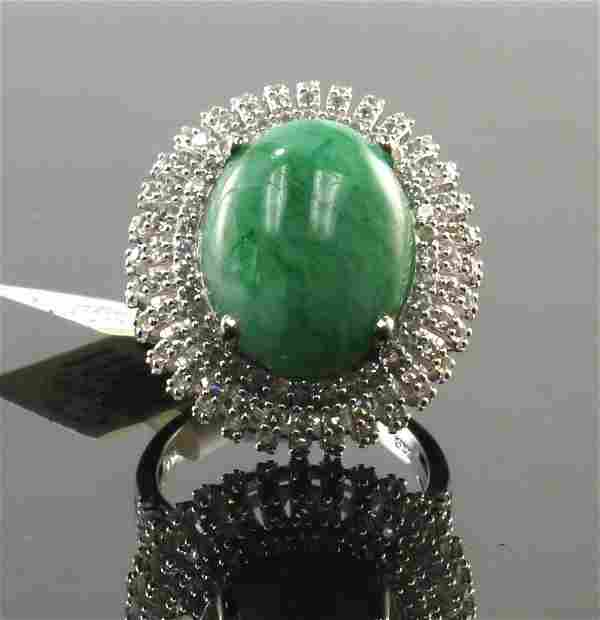 11.72ct Beryl 1.91ctw Sapphire Silver Ring K31J9