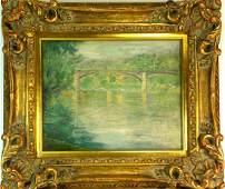 Emile Delobre Bridge Over River W3903