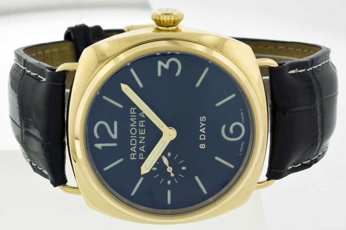 PANERAI RADIOMIR 18K PINK GOLD WITH LEATHER BAND