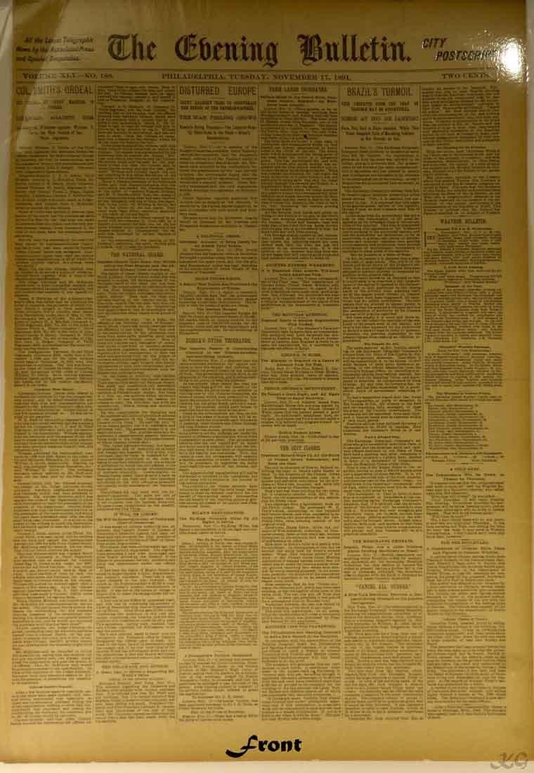 1891 City Postscript W25