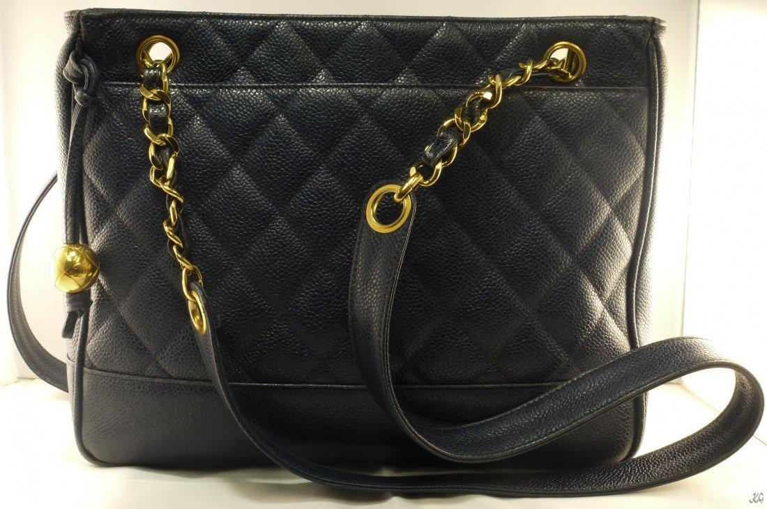CHANEL Blue Shoulder Bag W2850